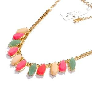 kate spade rainbow stone statement necklace